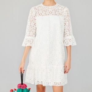NEw!  Kate Spade ♠️ Lace Flounce Dress